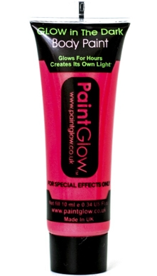Gel Rojo Body Paint Glow in the Dark